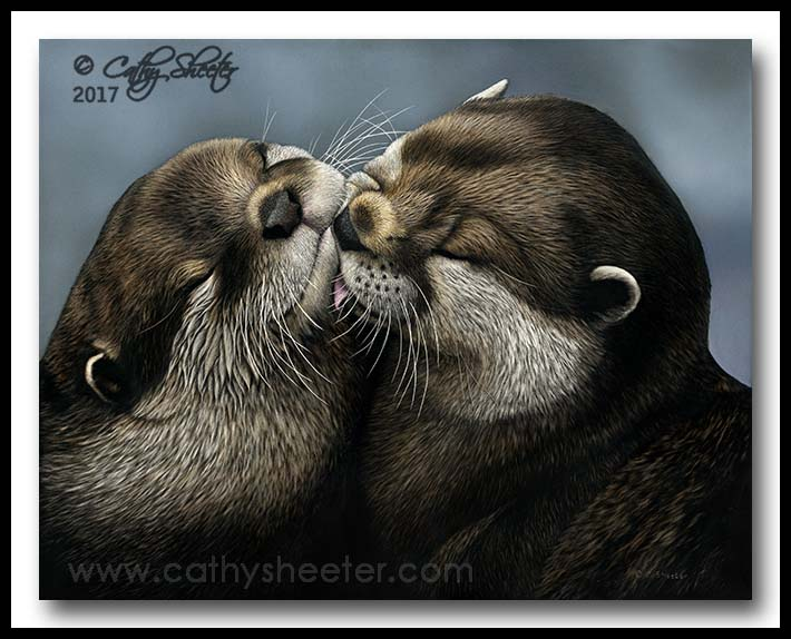 """""""Otterly Adorable"""" - scratchboard"""