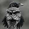 Crow - Scratchboard